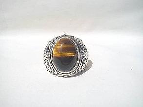 Prstene - Prsteň - Tigrie oko - 9724008_