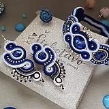 Modrý štebotavý šujtášový set