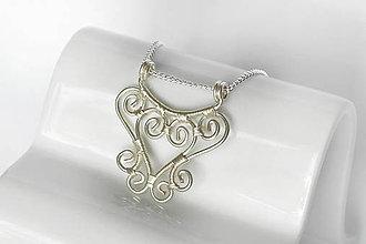 Náhrdelníky - postriebrený špirálkový náhrdelník - 9725816_