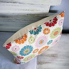 Úžitkový textil - Obliečka na vankúš s veľkými kvetmi - 9725631_