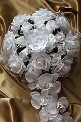 Kytice pre nevestu - Svadobná výzdoba na auto biela - 9725856_