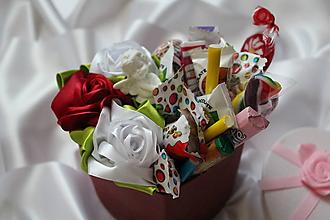 """Dekorácie - Sladký saténový box pre dievčatko """"červený"""" - 9725468_"""