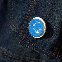 Odznaky/Brošne - Brošňa modré Čajky - 9724516_