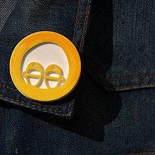 Odznaky/Brošne - Brošňa žlté Detské topánočky - 9724525_