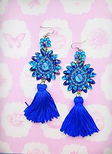 Náušnice - modré s fialovým nádychom - 9725270_