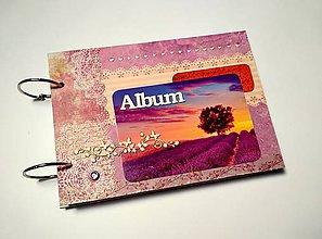 Papiernictvo - Vintage svadobný scrapbook album/ kniha hostí A5 - 9723876_
