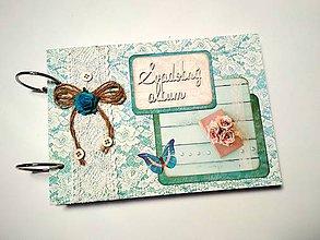 Papiernictvo - Fotoalbum svadobný * kniha hostí * album A5 - 9723955_