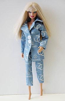 Hračky - Bledomodré nohavice 3 4 pre Barbie - 9725887  41c66441bb0