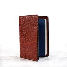 Papiernictvo - Ryšavý kožený obal na pas. Obal na cestovný pas. - 9724354_