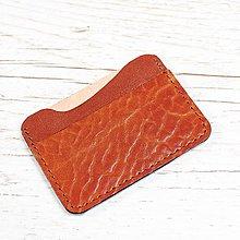 Peňaženky - Ryšavá kožená mini peňaženka. - 9724869_
