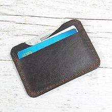 Peňaženky - Kožená mini peňaženka. Hnedá peňaženka. - 9724883_
