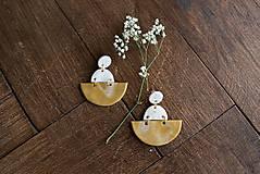 Náušnice - Polymérové náušnice   Nature halfmoon - 9724232_