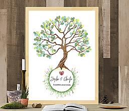 Grafika - Strom života na odtlačky prstov - 9723628_