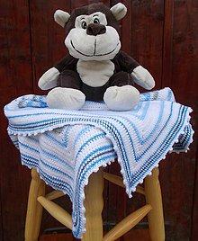 Textil - DETSKÁ HÁČKOVANÁ DEKA - 9724127_