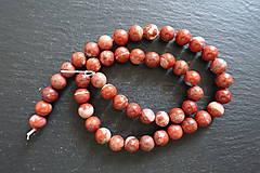 Minerály - Jaspis červený I 8mm - 9725278_