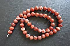Minerály - Jaspis červený I 8mm - 9725280_