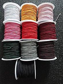 Galantéria - Gumičky farebné 1mm (Bordová) - 9724200_