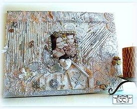 Obrazy - 3D koláž-obraz pre párik :) - 9724321_