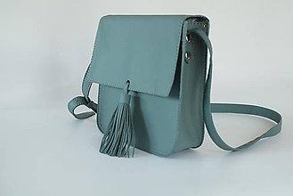 Kabelky - Kožená kabelka se střapcem - 9724774_