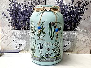 Nádoby - Svietnik/ váza/ bylinková - 9723658_