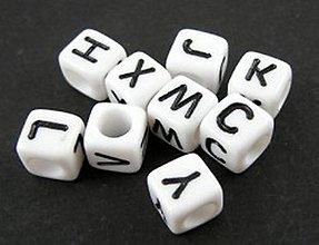 Korálky - Písmenko kocka - celá abeceda  (Písmenko
