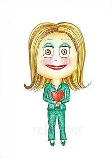 Kresby - Darovať srdce - kresba dievča 5 - 9724141_