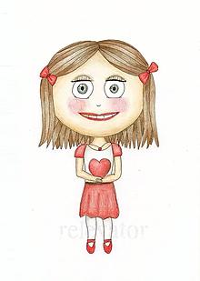 Kresby - Darovať srdce - kresba dievča 7 - 9724144_
