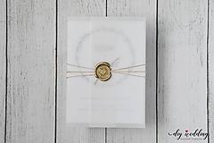 Papiernictvo - Svadobné oznámenie Seal - 9726639_