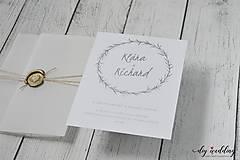 Papiernictvo - Svadobné oznámenie Seal - 9726640_
