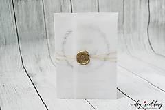 Papiernictvo - Svadobné oznámenie Seal - 9726641_