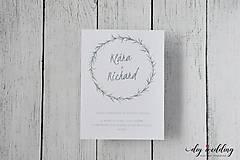 Papiernictvo - Svadobné oznámenie Seal - 9726642_