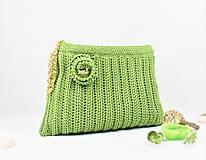 Kabelky - Kabelka háčkovaná Green apple - 9726389_