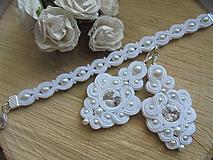 Sady šperkov - Svadobný soutache set Jade - 9727926_
