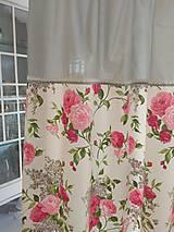Úžitkový textil - Závesy  kvety 2 ks - 9727443_