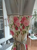 Úžitkový textil - Závesy  kvety 2 ks - 9727444_