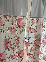 Úžitkový textil - Závesy  kvety 2 ks - 9727445_