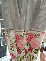 Úžitkový textil - Závesy  kvety 2 ks - 9727446_