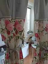 Úžitkový textil - Závesy  kvety 2 ks - 9727448_