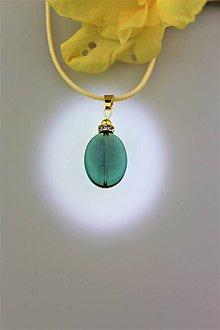 Náhrdelníky - Smaragdový fluorit prívesok v striebre - 9726248_