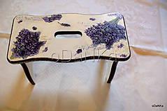 Nábytok - stolček Levanduľa - 9726989_
