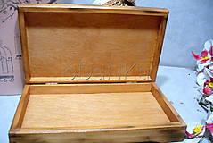 Iné - drevená krabička na cigarety Ristorante de Paris - 9727039_