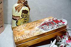Iné - drevená krabička na cigarety Ristorante de Paris - 9727040_
