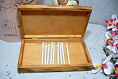 Iné - drevená krabička na cigarety Ristorante de Paris - 9727041_