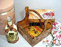 Iné - drevená krabička na cigarety Ristorante de Paris - 9727043_