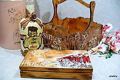Iné - drevená krabička na cigarety Ristorante de Paris - 9727044_