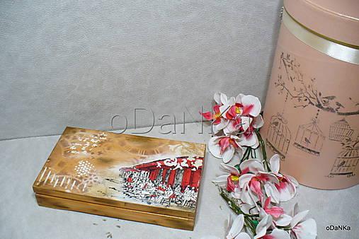 drevená krabička na cigarety Ristorante de Paris