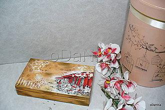 Iné - drevená krabička na cigarety Ristorante de Paris - 9727038_