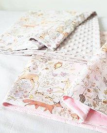 Textil - detská deka lesné zvieratká 75x75 - 9727472_