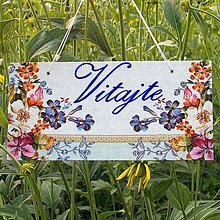Tabuľky - Uvítacia tabuľka Lúčne kvietky - 9727826_