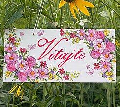 Tabuľky - Tabuľka na dvere Kvietková motýliková - 9727863_